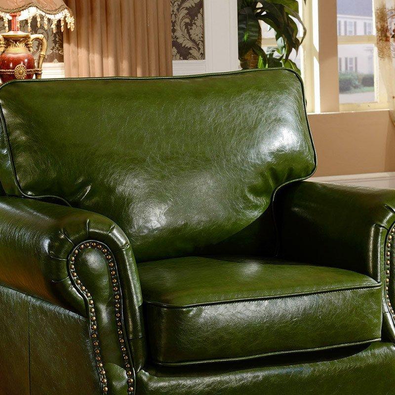 狄雷斯 美式沙发 经典客厅复古真皮沙发 欧式时尚别墅
