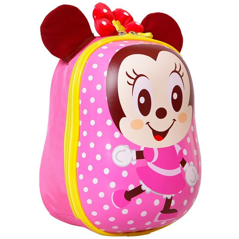 迪士尼(disney)幼儿园立体蛋壳儿童书包小中班女童米妮双肩书包 tgmb0