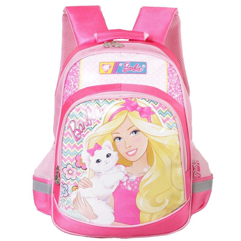 公主书包小学生1-4年级女童卡通双肩书包 tgmb0096c芭比粉送笔盒