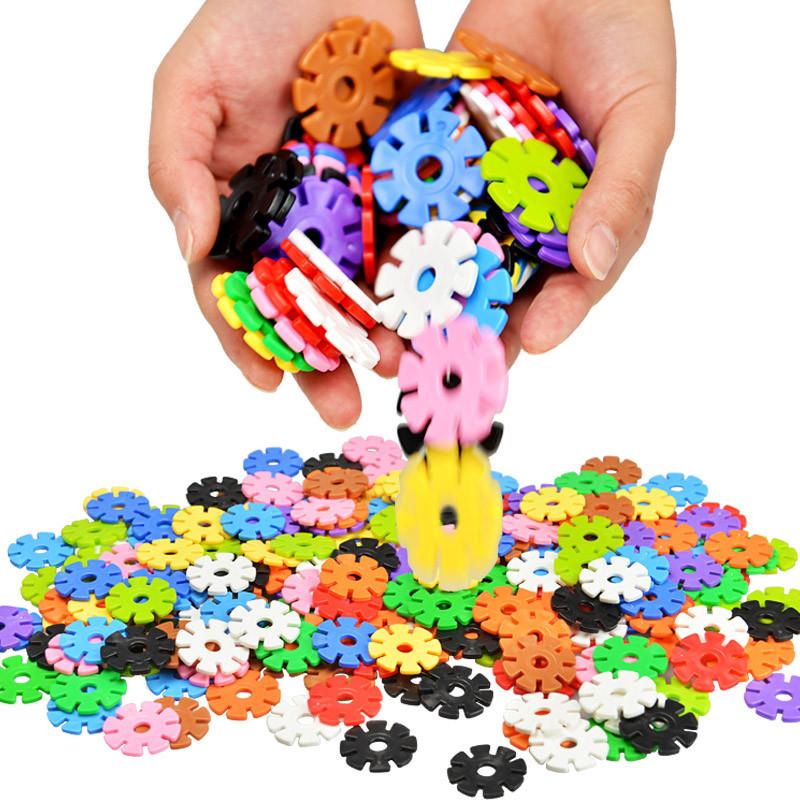 雪花片立体拼图加厚塑料拼插积木12色儿童3