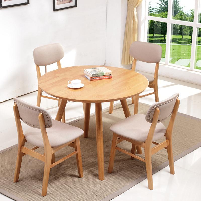 设计师小桌子小圆桌吃饭沿河圆形议组合桌餐桌椅洽谈餐厅家具户型景观设计图片