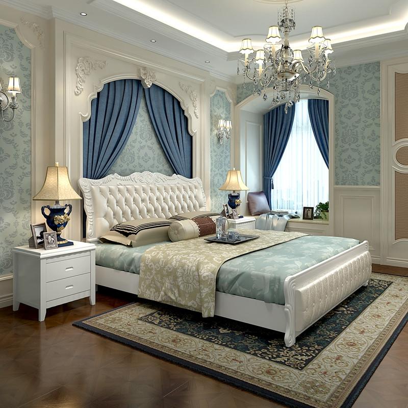 5m 大床铺 收纳储物高箱床 欧式床 软包床皮床 现代简约主卧室家具