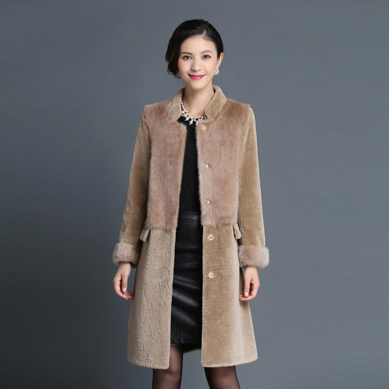 羊剪绒大衣