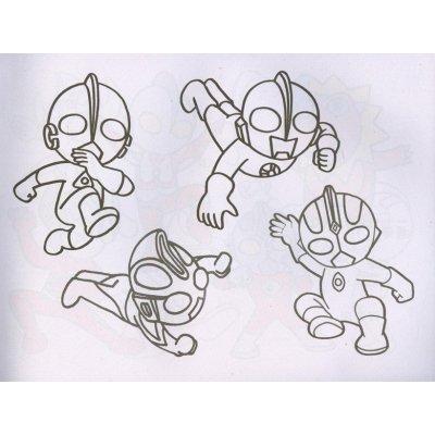 《奥特曼简笔画4本包邮小手学画蒙纸临摹画画填色本