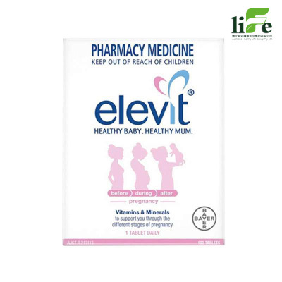 Elevit 女性 女爱乐维 备孕 孕妇 维生素 营养素 叶酸 100片 瓶装 片剂【澳洲直邮】