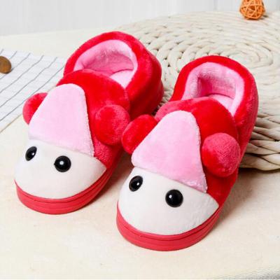 新款卡通兒童拖鞋 寶寶保暖棉鞋 寶寶居家拖鞋 孩子室內棉拖鞋302 寶藍色16碼鞋內長13.5厘米
