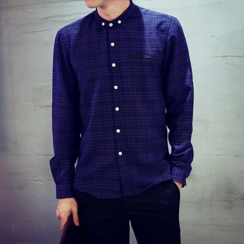 星涵2015年秋装新款原创设计长袖衬衫小尖领衬衣 衬衫