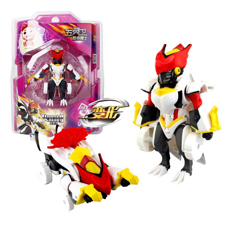 五灵卫之五灵守卫者酷变炫变机器人儿童变形玩具-炫变勇士火焰鹤ys