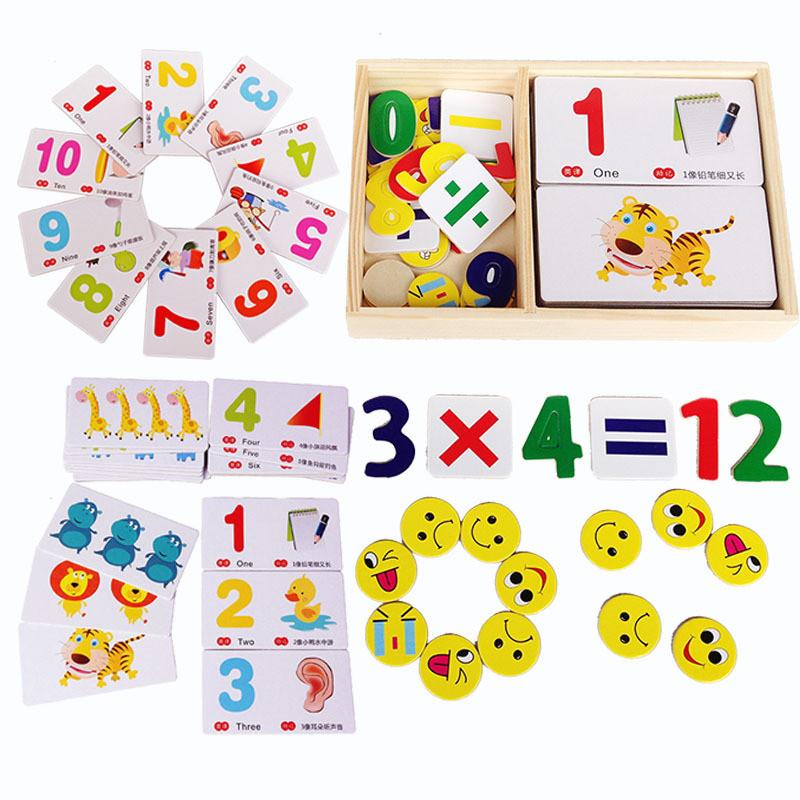 儿童早教益智认知卡趣味数字动物学习卡数学玩具2-3-6