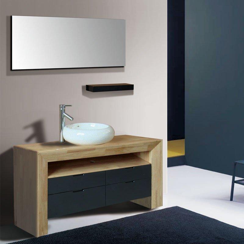 汉登(haden)现代中式浴室柜组合落地卫浴柜实木洗漱
