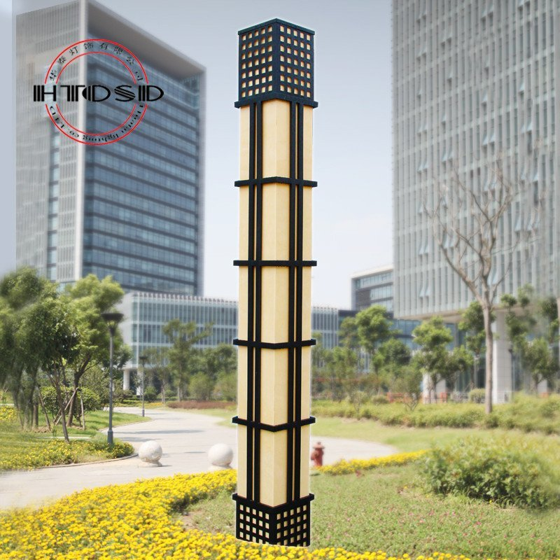 不锈钢云石景观灯 广场园林庭院灯中式景观灯户外3米3.5米4米图片