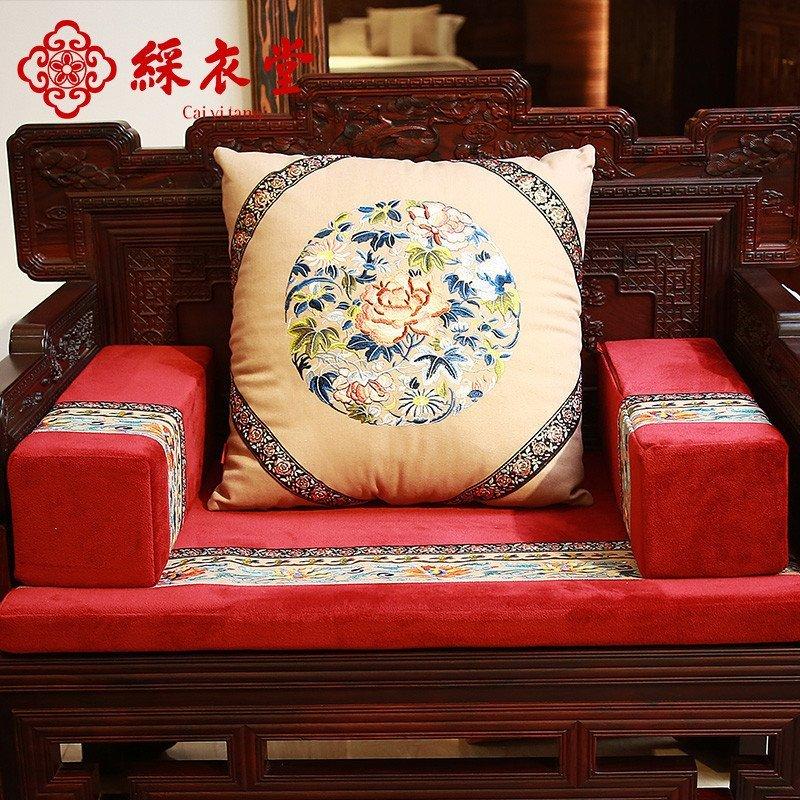 彩衣堂 红木沙发垫四季实木沙发坐垫加厚新中式靠垫定做 福蕴江南图片