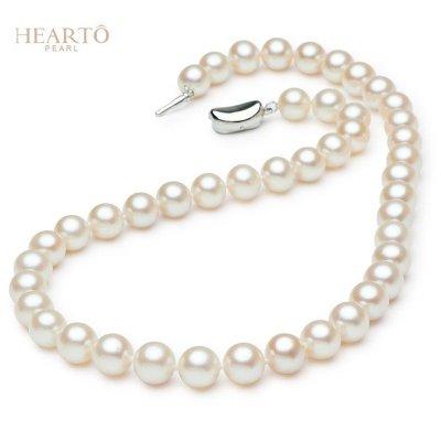海瞳 正圆 淡水珍珠项链 大气款 10-11mm 强光珍珠项链 送长辈送妈妈