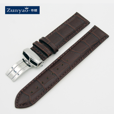 尊耀表帶 適合卡西歐BEM-501 506 307 EFR517 男真皮表帶 20mm
