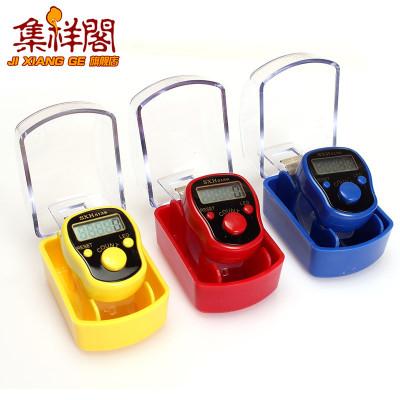 集祥閣戒指型手動電子顯示器手指念佛計數器LED顯示燈數顯計數器2723