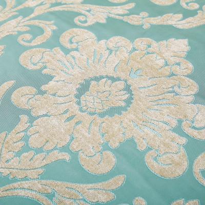 坐垫子套罩沙发巾飘窗垫可定做包邮欧式万能盖巾欧陆蓝绿 欧陆蓝绿色