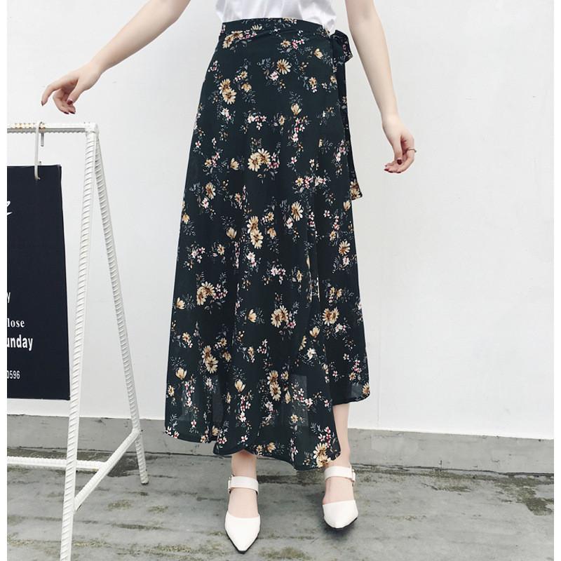 琳朵儿半身裙女度假裙子一片式裹身裙沙滩裙高腰显瘦印花长裙