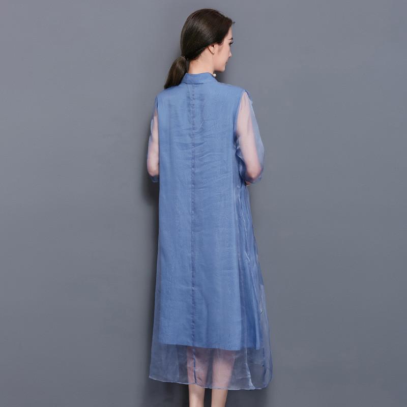 立领民族风连衣裙
