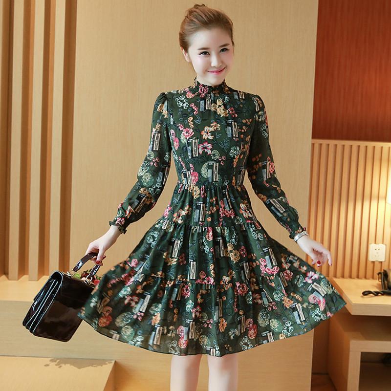 连衣裙长袖春蓬蓬裙