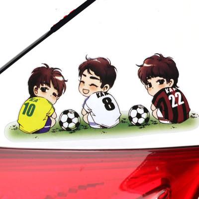 洛瑪 3D立體仿真彩貼 多種創意刮劃痕遮擋狼個性梅西足球創意汽車身燈眉裝飾貼紙