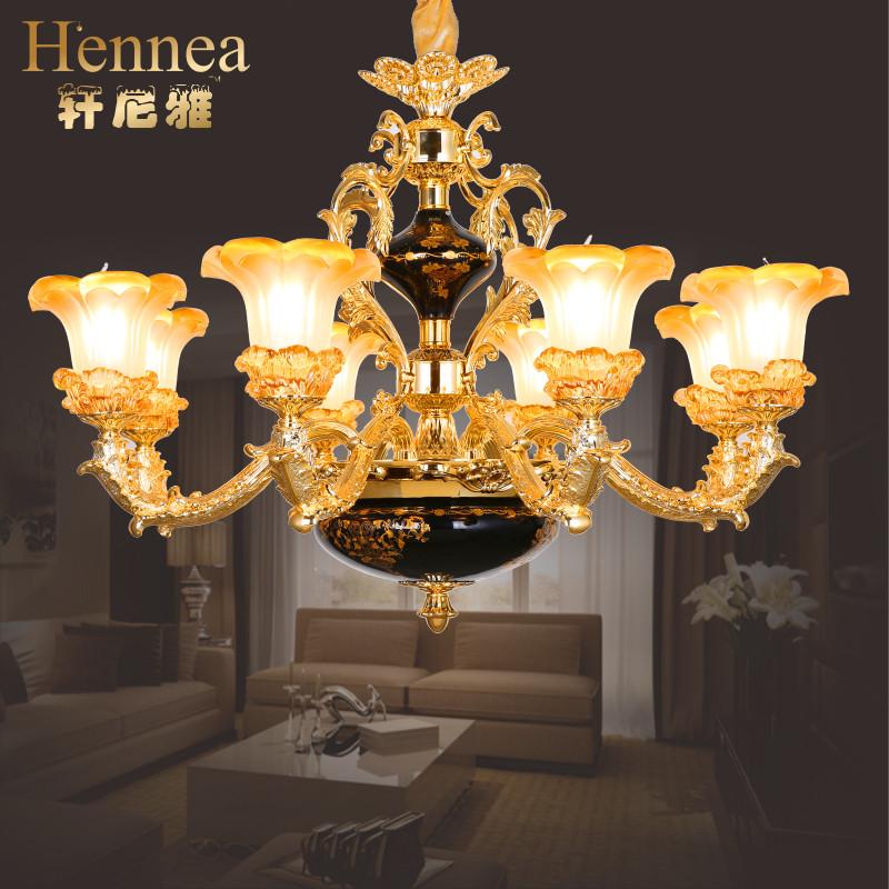 欧式水晶吊灯简欧客厅卧室餐厅灯具法式乡村田园复古锌合金灯饰图片