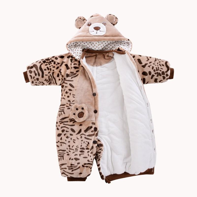 冬季加厚婴儿哈衣服装儿童男童动物造型连体衣女宝宝外出服