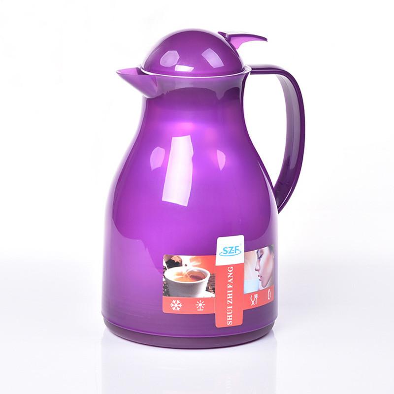 水之坊 时尚保温壶家用热水瓶咖啡壶塑料暖瓶 礼品热水壶1l
