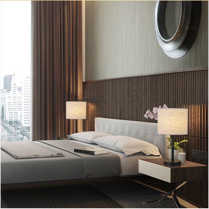 创意台灯床头灯卧室美式led护眼节能台灯落地床头台灯