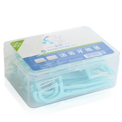 5盒* 50支/盒 晶神(JingShen)潔齒牙線簽細安全扁線 拉力高不易斷 不起毛牙線棒 剔牙