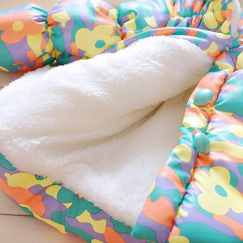 奇洋贝贝 15新款小童冬季棉衣超萌女宝宝可爱兔耳朵连