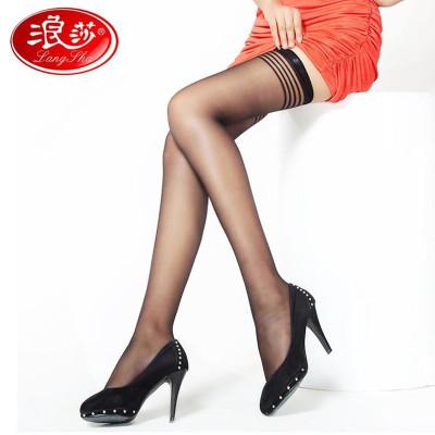 5双浪莎长筒丝袜薄款 防勾丝蕾丝防滑 长筒袜过膝日系 高筒袜