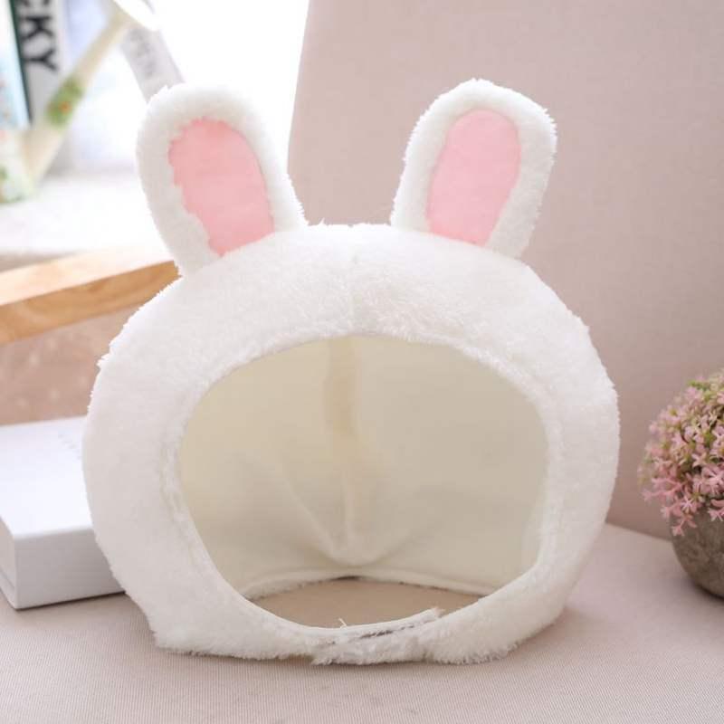 朵啦啦 ins拍照毛绒动物耳朵兔子头套帽子青蛙卡通可爱面具女道具