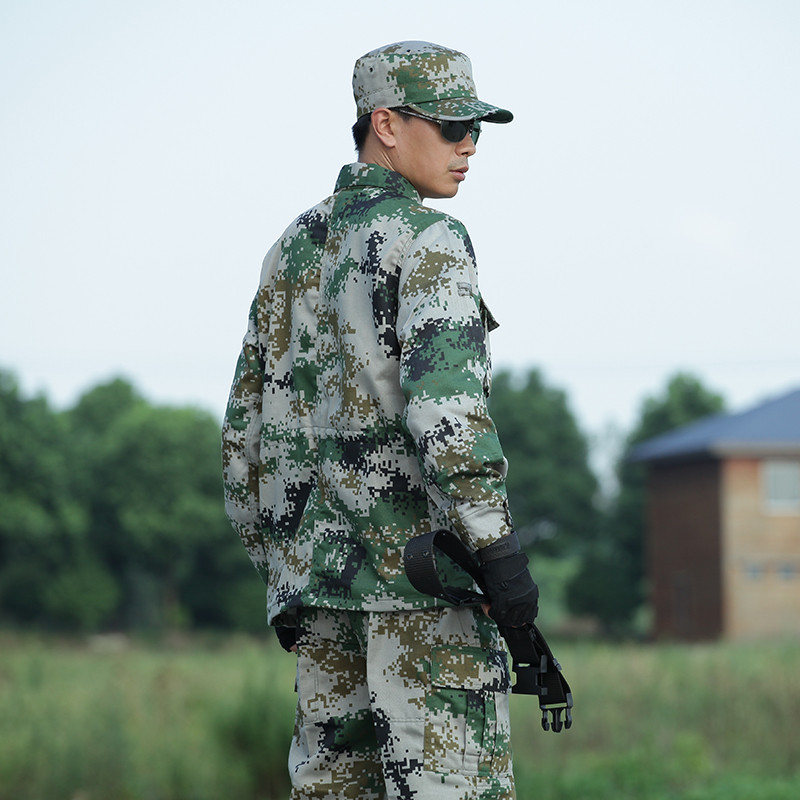 07丛林数码迷彩作训服套装男女特种兵战术训练服保安执勤服军迷户外