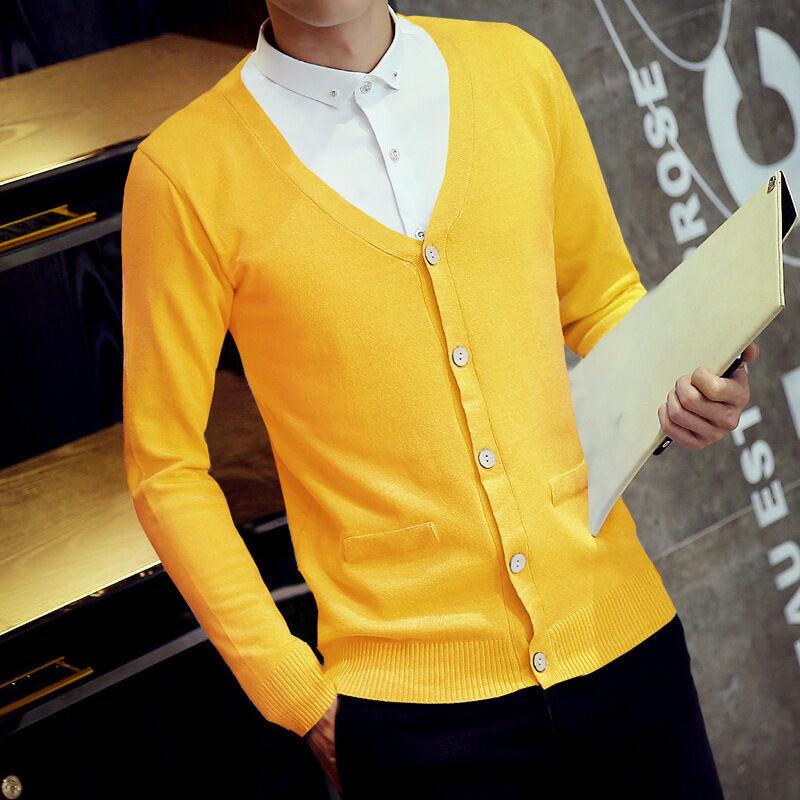 鲁宾克2015男士毛衣外套男韩版针织衫秋装休闲长袖开衫修身