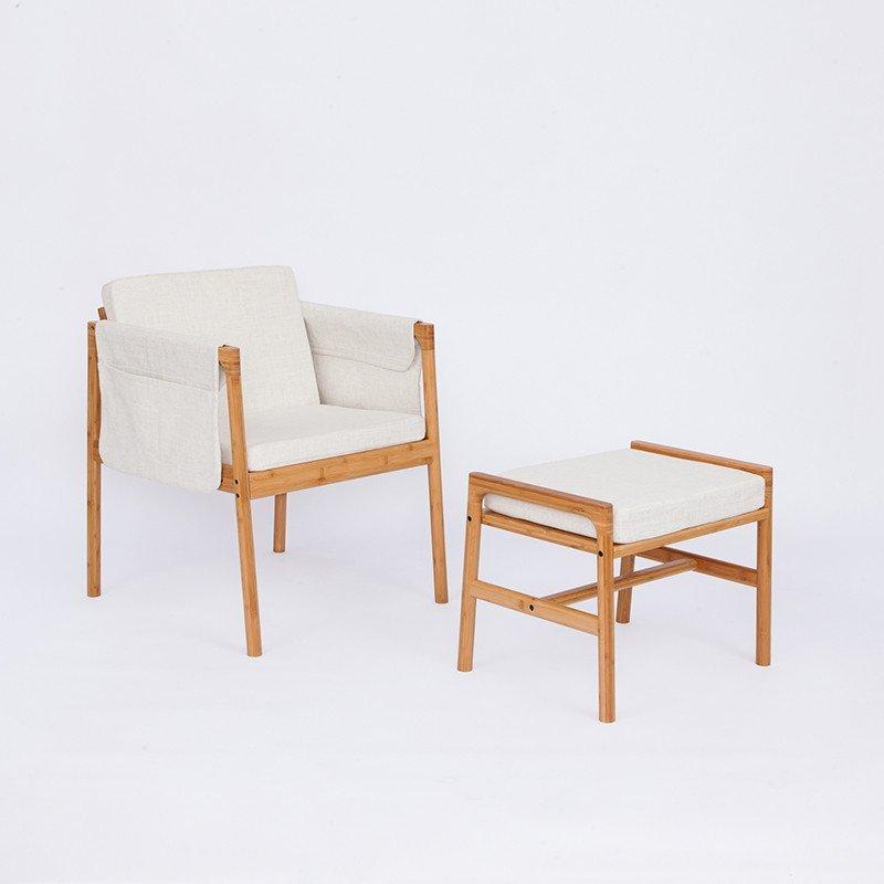 橙舍 创意休闲单人沙发椅 北欧布艺带坐垫电脑椅卧室