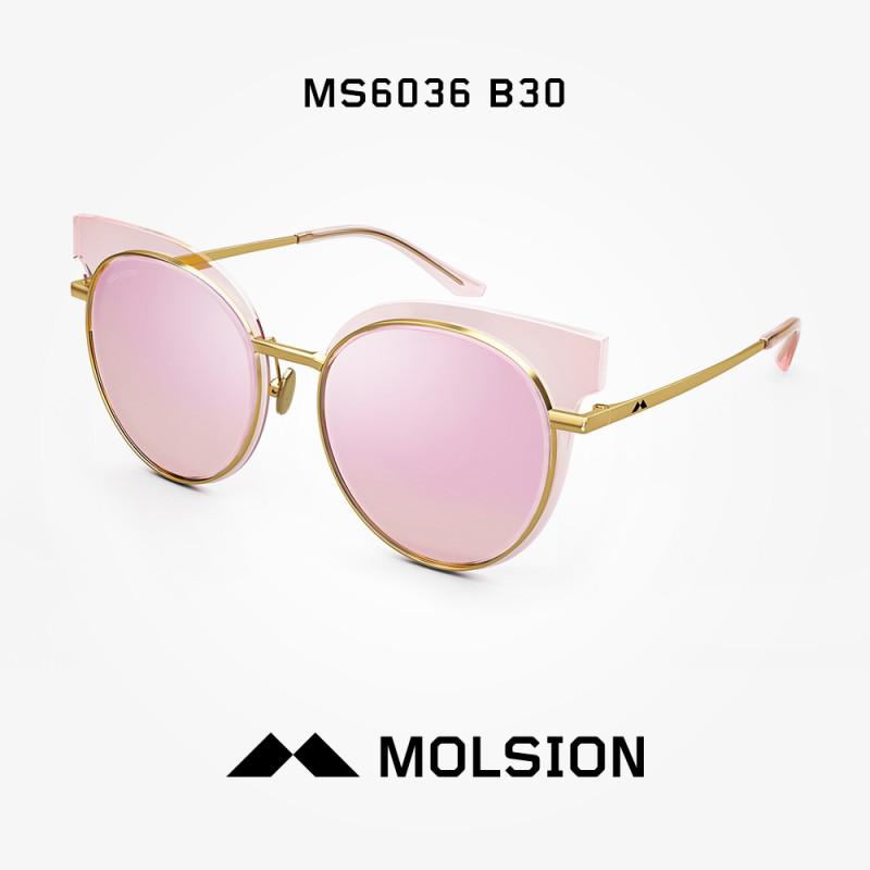 molsion陌森眼镜2018年春夏新款太阳镜圆长脸墨镜偏光