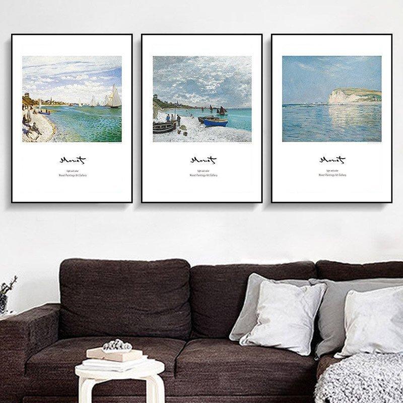 柠檬树 现代简约客厅装饰画 沙发背景墙壁画餐厅挂画地中海风景三联画