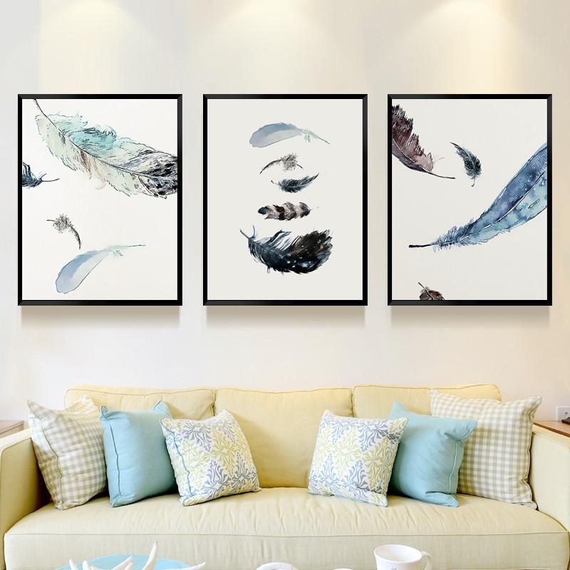 北欧风格装饰画客厅墙壁挂画沙发背景墙装饰餐厅壁画家居饰品图片