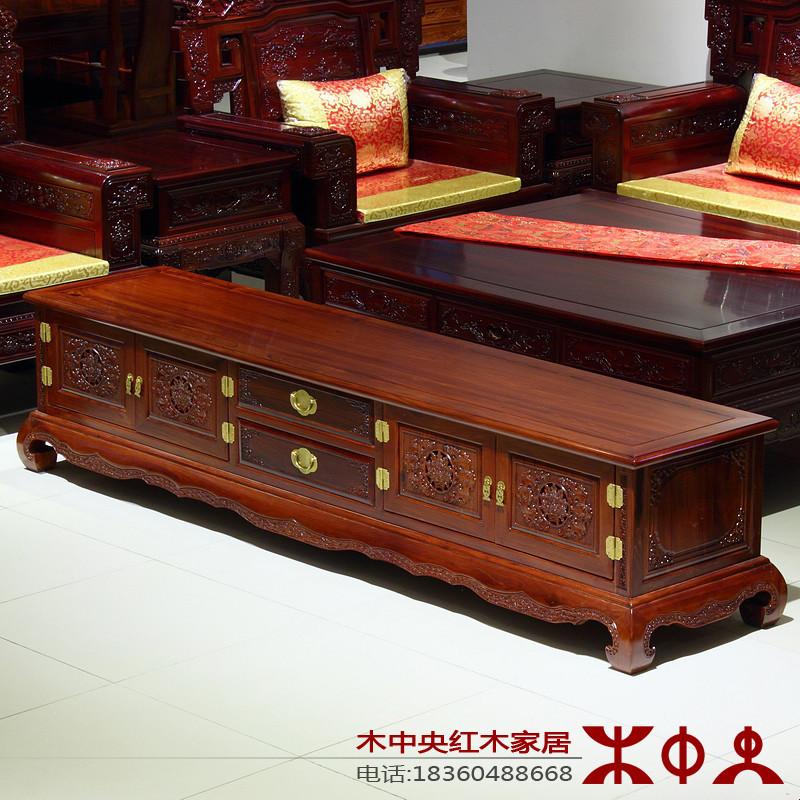 木中央红木家具 现代中式电视柜2/2.2米 实木厅柜 木