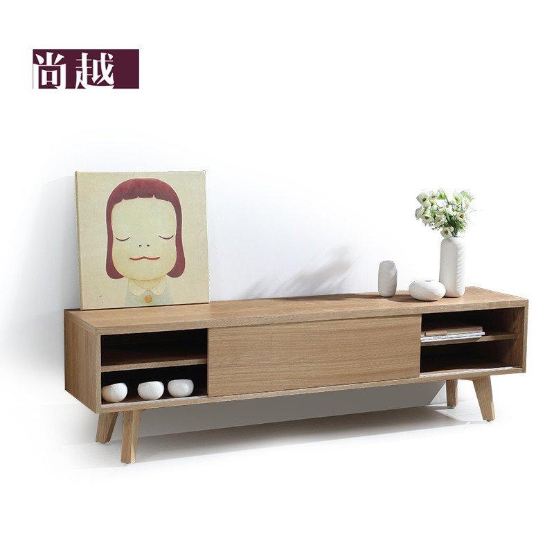 尚越 北欧简约现代电视柜 设计师家具 日式muji木质电视柜子