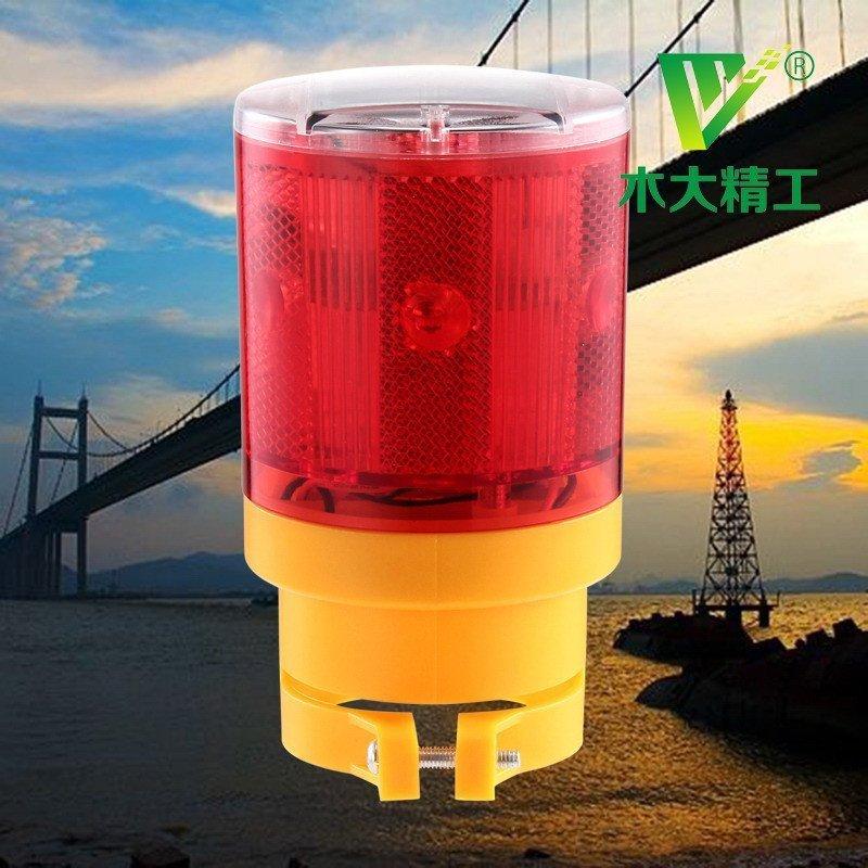led太阳能警示灯 2色爆闪高亮安全施工灯 光控路障闪光灯 工程塔吊