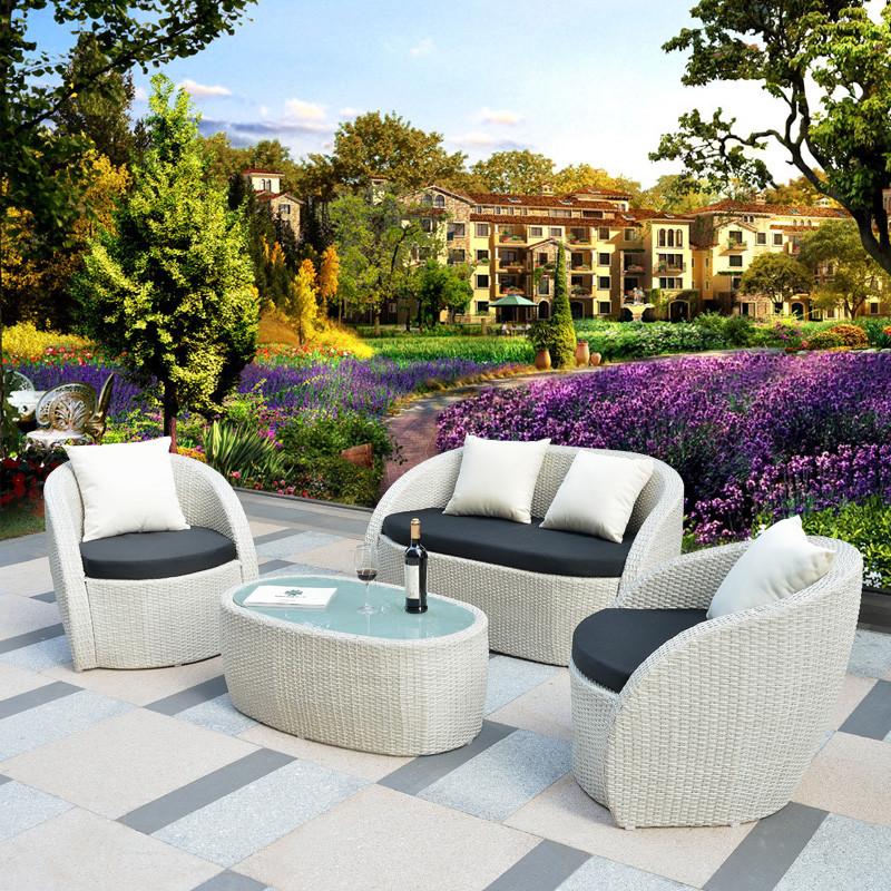 幽之腾 户外沙发 藤编室外别墅花园庭院阳台休闲沙发咖啡厅藤家具