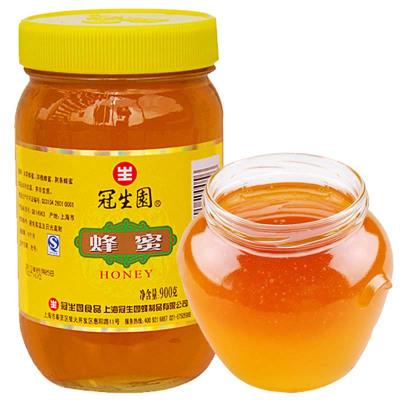 上海冠生园蜂蜜 900克 大瓶装蜂蜜 上海特产 百花蜜 土蜂蜜 父母年节礼物