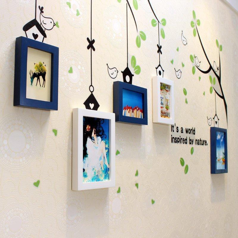 实木照片墙 客厅卧室餐厅书房自由混搭相框墙 创意装饰画组合 相片墙
