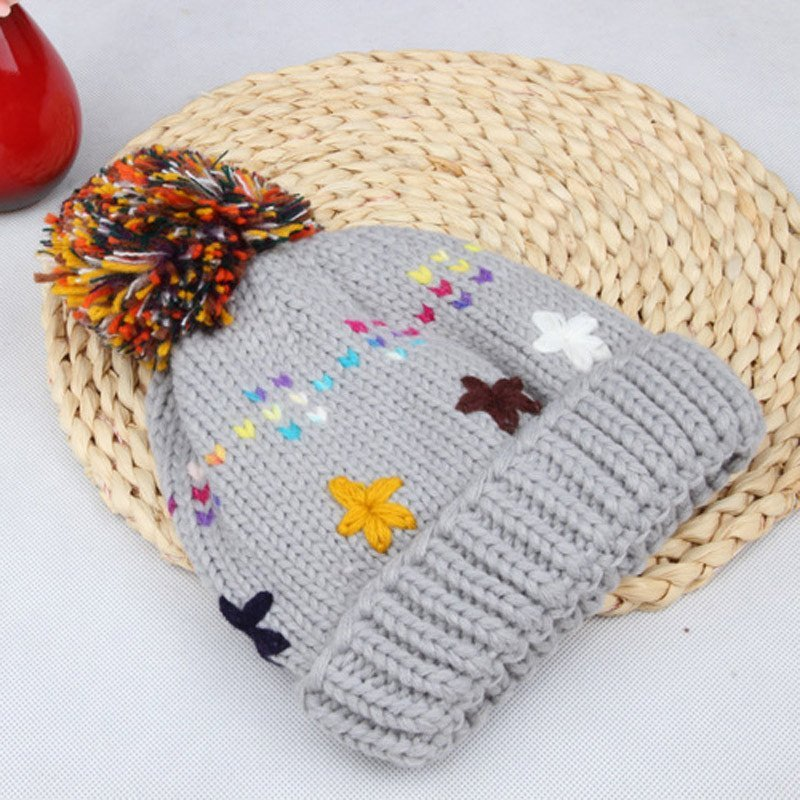 儿童帽子秋冬保暖男童女童宝宝手工帽加绒毛线帽婴儿针织帽子潮套头帽