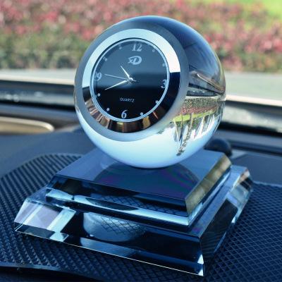 捷歐得(Genautoment)帶鐘表水晶球創意汽車香水擺件