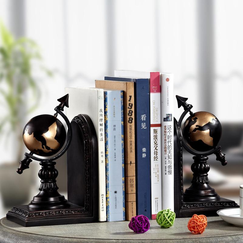 徐健 办公桌桌面地球仪摆件办公室装饰书房书柜书桌书柜书挡装饰品