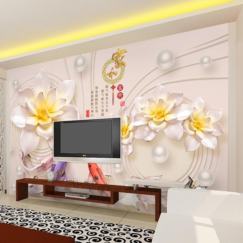 徐健8d电视背景墙壁纸自粘简约现代大气客厅壁画5d立体凹凸影视墙装饰