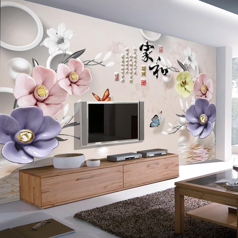 徐健8d电视背景墙壁纸简约现代背影墙装饰壁画5d立体凹凸客厅大气墙布