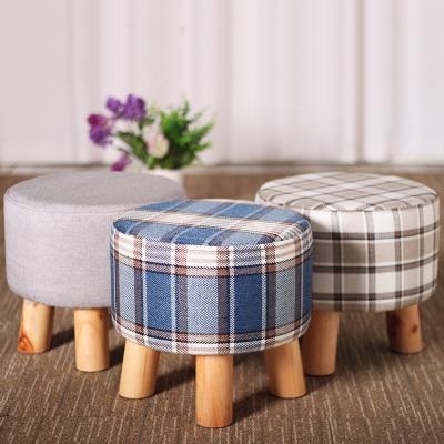 小矮板凳子換鞋凳實木布藝創意小椅子沙發圓凳小木凳板凳簡易